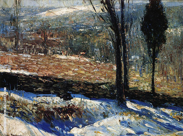 The Stone Fence 1909 Painting By George Bellows - Reproduction Gallery