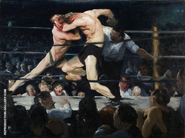Stag at Sharkeys 1909 Painting By George Bellows - Reproduction Gallery