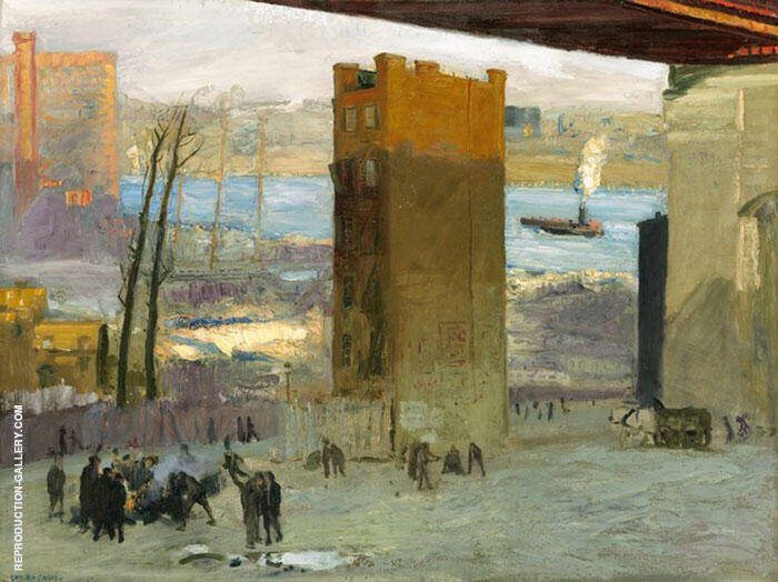 Lone Tenement 1909 By George Bellows