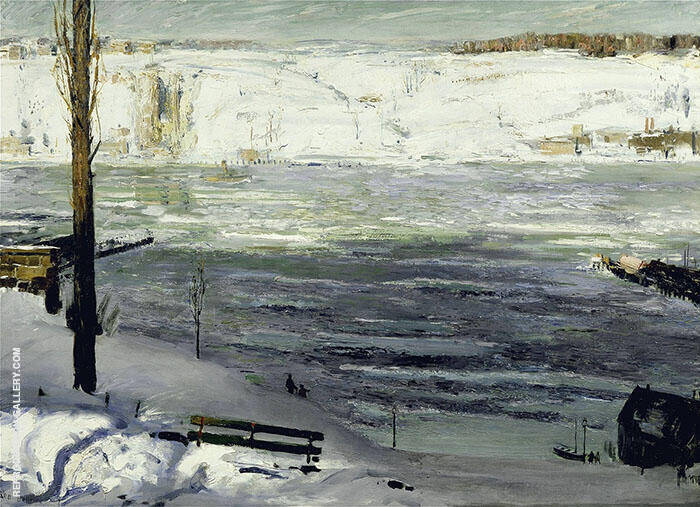 Floating Ice 1910 Painting By George Bellows - Reproduction Gallery