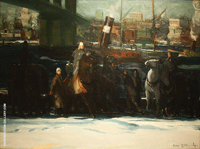 Snow Dumpers 1911 By George Bellows