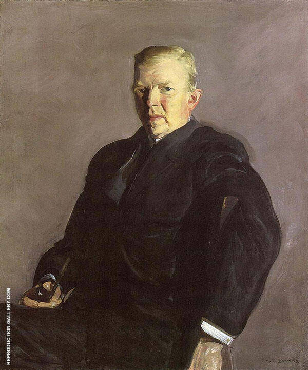Man with a Pipe Portrait of Professor Joseph Russell Taylor 1912 By George Bellows