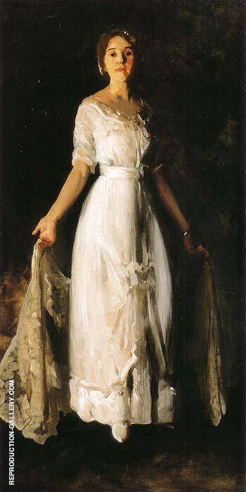 Mrs.Albert M.Miller or White Dress 1913 By George Bellows