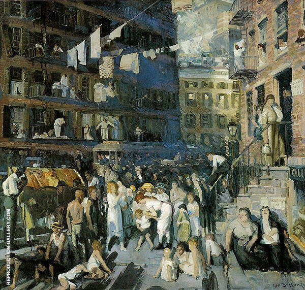 Cliff Dwellers 1913 Painting By George Bellows - Reproduction Gallery