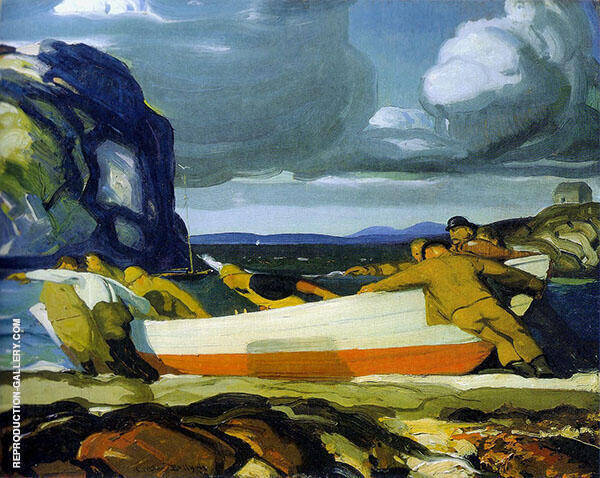 The Big Dory 1913 Painting By George Bellows - Reproduction Gallery