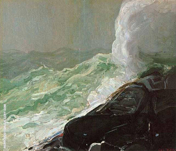 Churn and Break 1913 By George Bellows