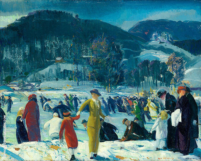Love of Winter 1914 Painting By George Bellows - Reproduction Gallery