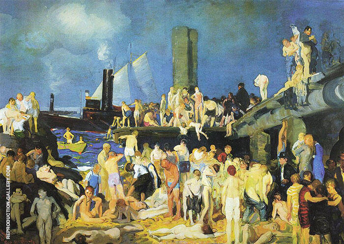 Riverfront No 1 1915 Painting By George Bellows - Reproduction Gallery
