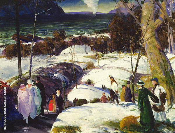 Easter Snow 1915 Painting By George Bellows - Reproduction Gallery