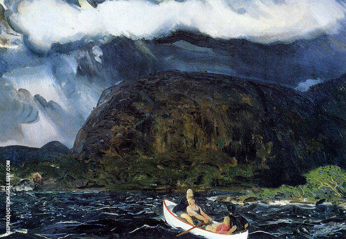 In a Rowboat 1916 By George Bellows