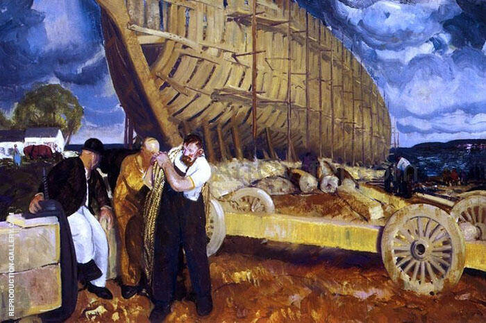 Builders of Ships 1916 By George Bellows