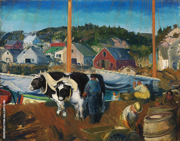 Ox Team Matinicus Island Maine 1916 By George Bellows