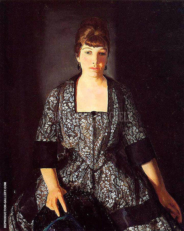 Emma in the Black Print 1919 By George Bellows