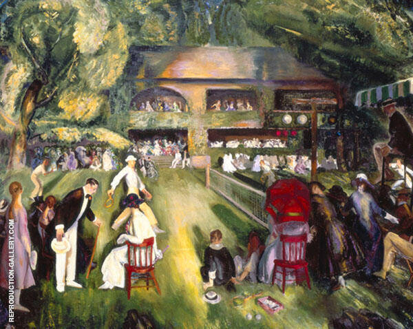 Tennis at Newport 1920 By George Bellows