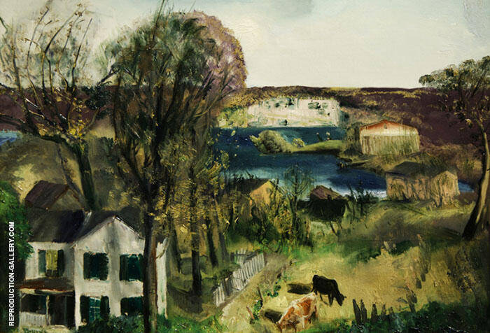 Hudson at Saugerties 1920 By George Bellows