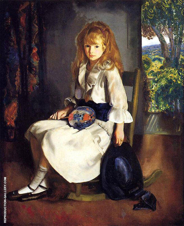 Anne in White 1920 By George Bellows