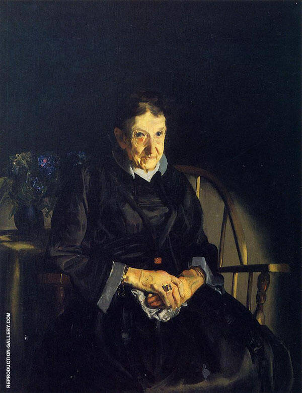 Aunt Fanny Old Lady in Black 1920 By George Bellows