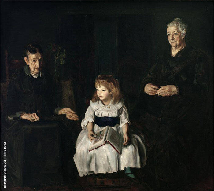 Elinor Jean and Anna 1920 By George Bellows