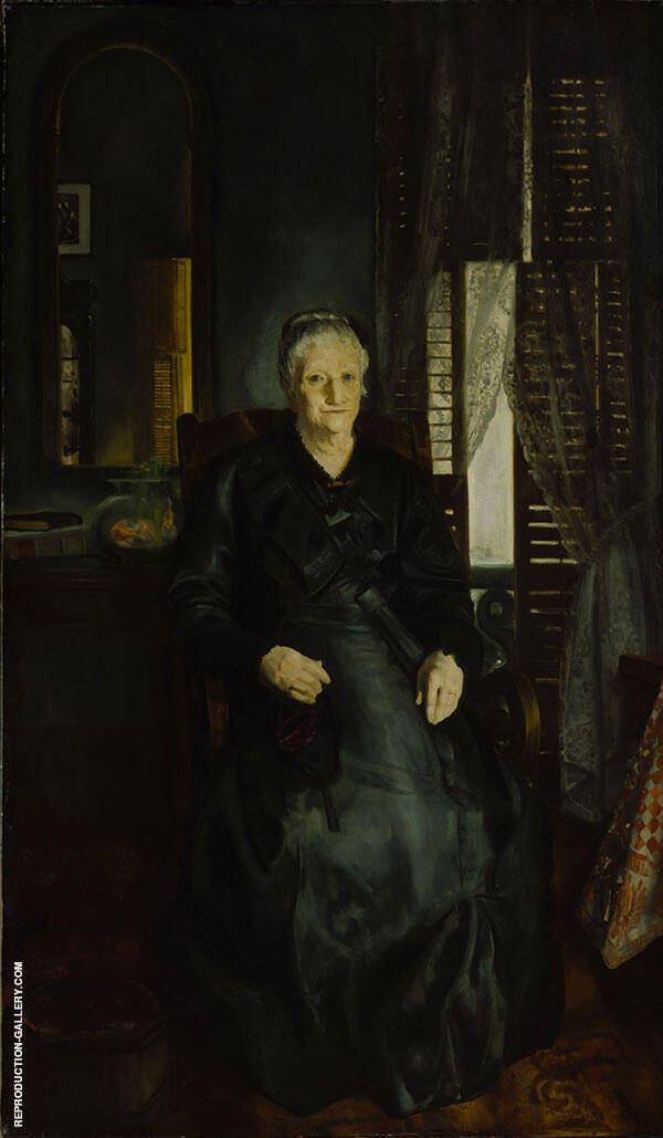 Portrait of My Mother No 1 1921 By George Bellows