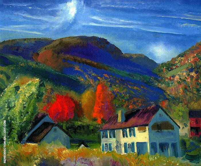 My House Woodstock 1924 By George Bellows