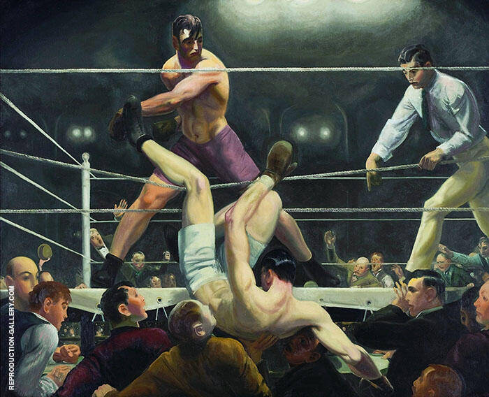 Dempsey and Firpo 1924 Painting By George Bellows - Reproduction Gallery
