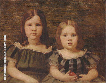 Aimee Ernanesta and Cecilia Beaux early 1880s By Cecilia Beaux - Oil Paintings & Art Reproductions - Reproduction Gallery