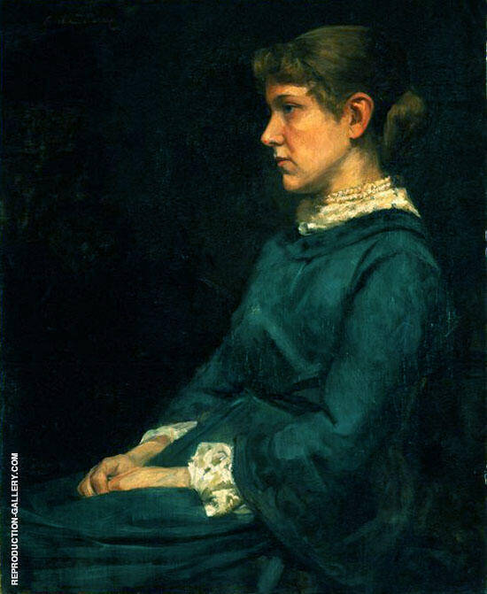 Eleanor Gertrude Dupuy c.a.1884 By Cecilia Beaux Replica Paintings on Canvas - Reproduction Gallery