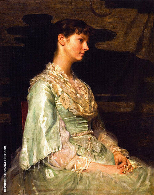 Ethel Page as Undine 1885 Painting By Cecilia Beaux - Reproduction Gallery