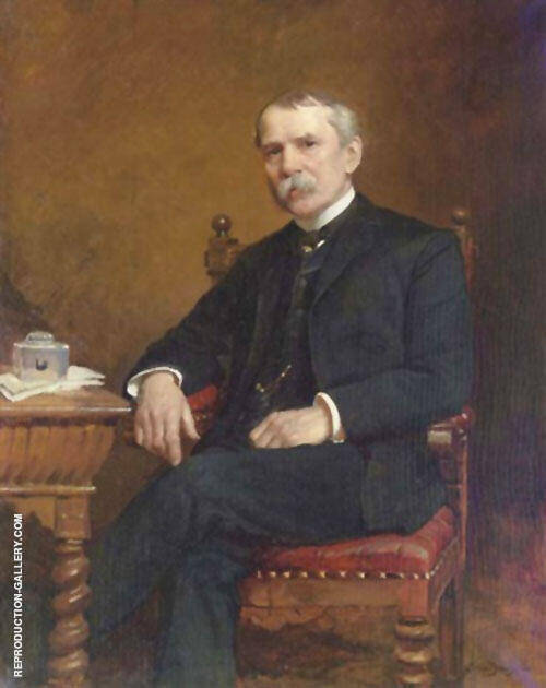 George Troutman 1886 By Cecilia Beaux Replica Paintings on Canvas - Reproduction Gallery
