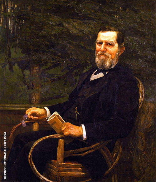 George Burnham 1887 By Cecilia Beaux Replica Paintings on Canvas - Reproduction Gallery