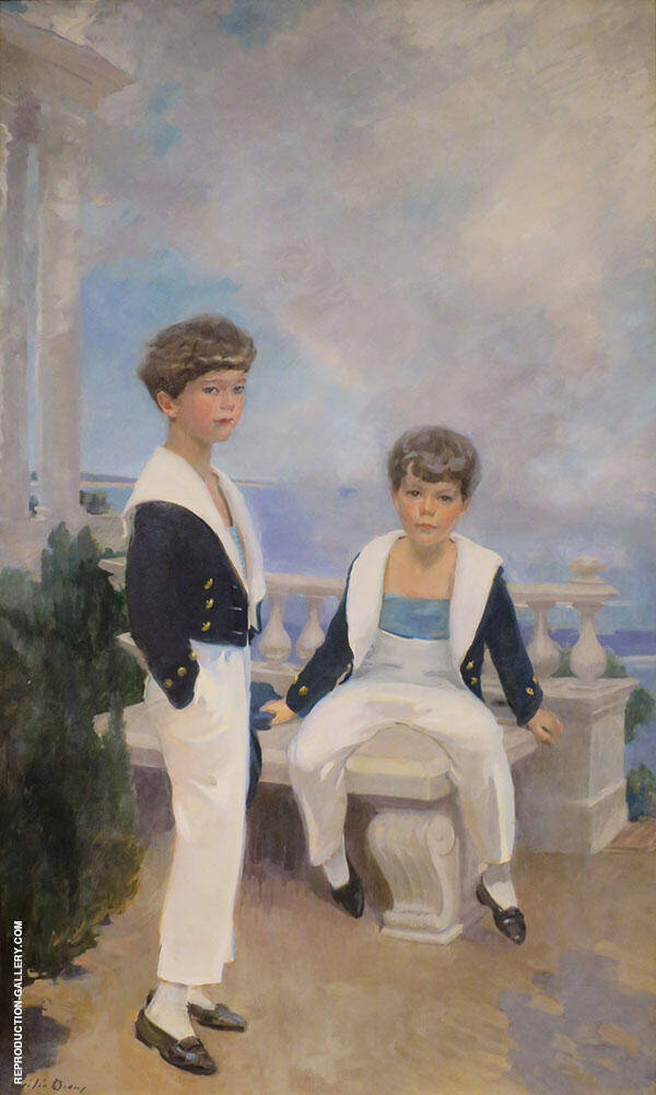 The Velie Boys 1913 Painting By Cecilia Beaux - Reproduction Gallery