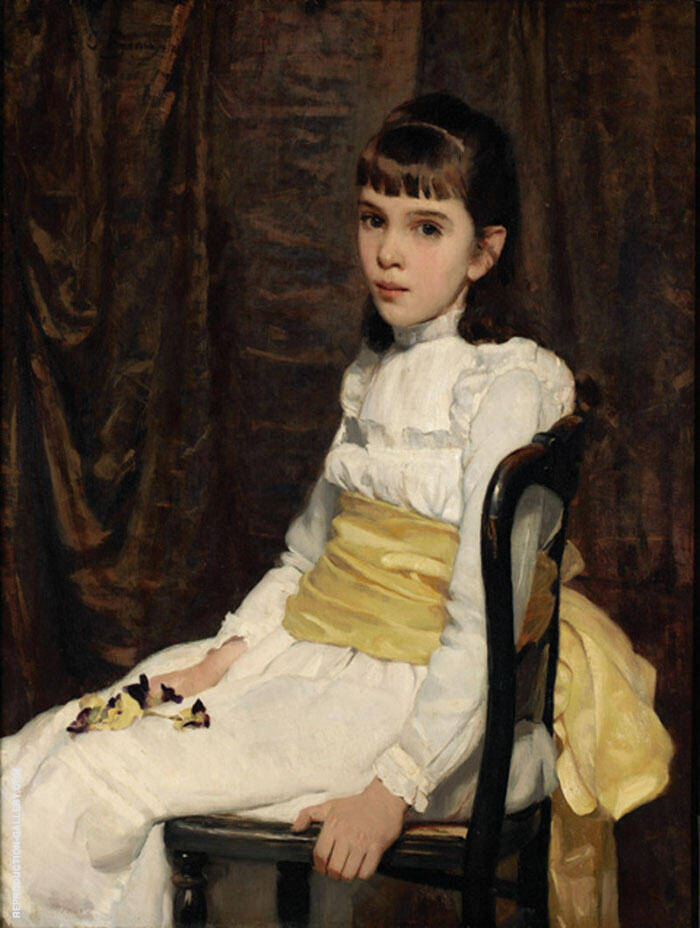 A Little Girl Fanny Travis Cochran 1887 By Cecilia Beaux