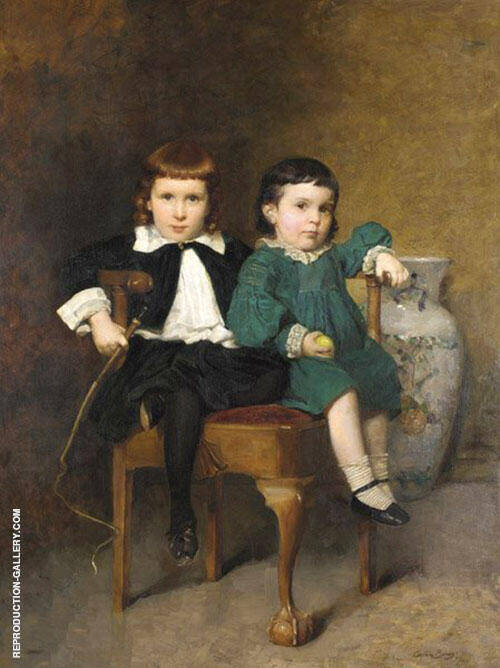 Harold and Mildred Colton 1887 By Cecilia Beaux Replica Paintings on Canvas - Reproduction Gallery