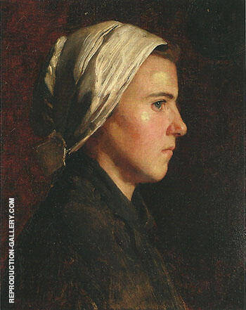 Head of a French Peasant Woman 1888 By Cecilia Beaux - Oil Paintings & Art Reproductions - Reproduction Gallery