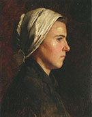 Head of a French Peasant Woman 1888 By Cecilia Beaux
