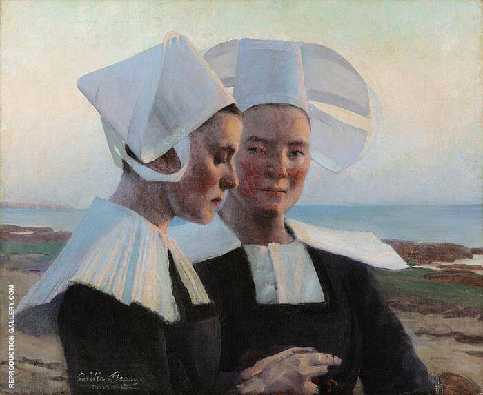 Twilight Confidences 1888 Painting By Cecilia Beaux - Reproduction Gallery
