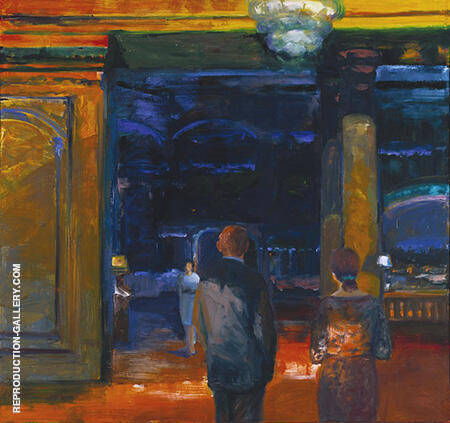 The Glass Chandelier 1969 By Elmer Bischoff - Oil Paintings & Art Reproductions - Reproduction Gallery