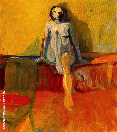 Figure on Red Couch 1957 By Elmer Bischoff