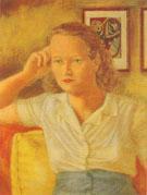 Portrait of Jean c.a.1940 By Elmer Bischoff