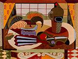 Untitled Still Life 1941 By Elmer Bischoff