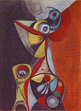 Untitled May 1947 By Elmer Bischoff