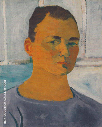 Self Portrait 1955 By Elmer Bischoff - Oil Paintings & Art Reproductions - Reproduction Gallery