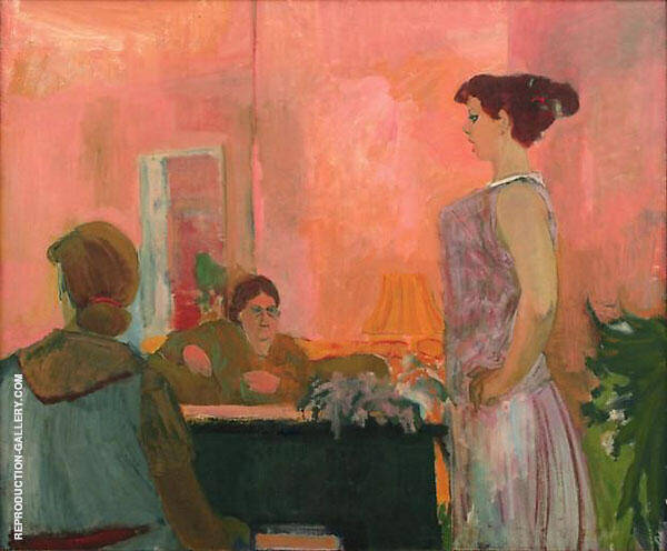 The Singing Lesson 1952 Painting By Elmer Bischoff - Reproduction Gallery