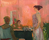 The Singing Lesson 1952 By Elmer Bischoff