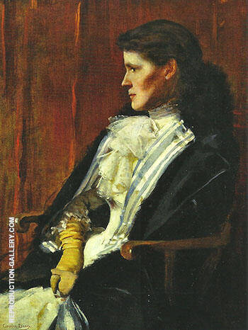 Reproduction of Mrs Henry S Drinker Aimee Ernesta Beaux 1891 by Cecilia Beaux | Oil Painting Replica On CanvasReproduction Gallery