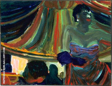 Blues Singer 1954 By Elmer Bischoff - Oil Paintings & Art Reproductions - Reproduction Gallery
