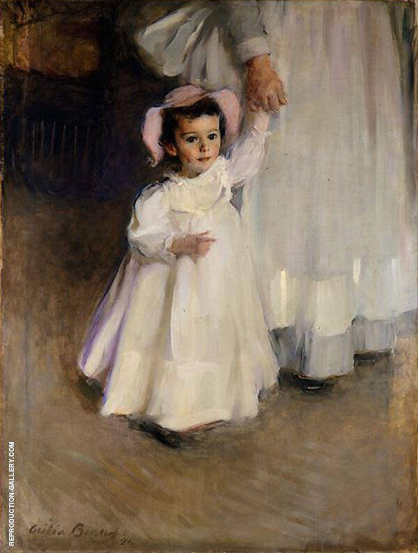 Ernesta Child with Nurse 1894 Painting By Cecilia Beaux