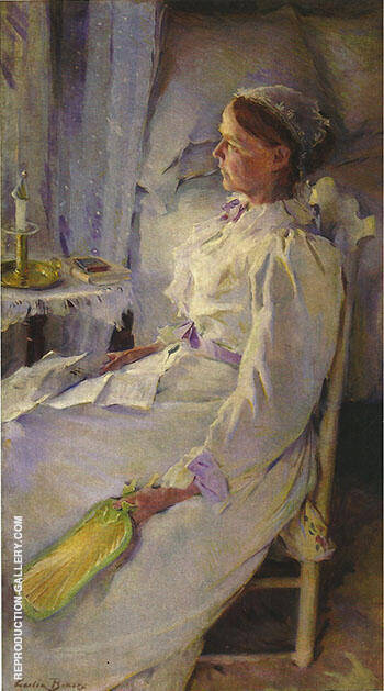 New England Woman 1895 Painting By Cecilia Beaux - Reproduction Gallery