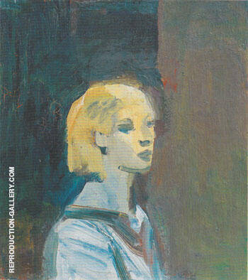 Girl with Blue Blouse 1959 By Elmer Bischoff Replica Paintings on Canvas - Reproduction Gallery