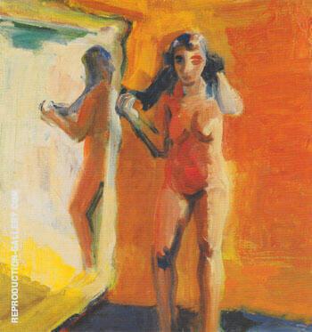 Girl in Mirror 1960 By Elmer Bischoff